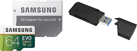 64GB EVO Select Memory Card and Sabrent SuperSpeed 2-Slot...