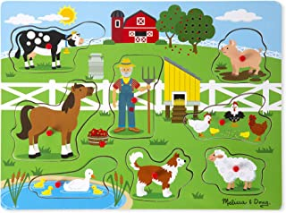 Melissa & Doug Old Macdonald's Farm Sound Puzzle (8 Piece)