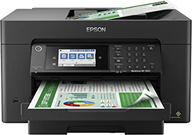 """Epson Workforce Pro WF-7820 Wireless All-in-One Wide-Format Printer with Auto 2-Sided Print up to 13"""" x 19"""", Copy, Scan and F"""