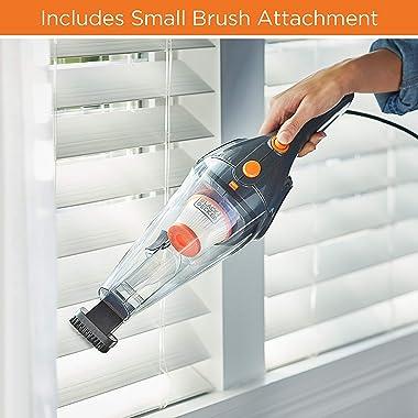 BLACK+DECKER Upright Vacuum Cleaner, Metallic Gray with Orange