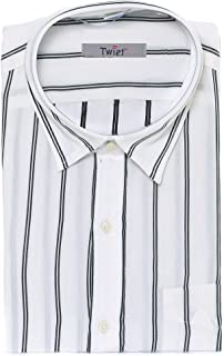 TWIST99 Men's Striped Cotton Mill-Made Goods Half Sleeve Shirt