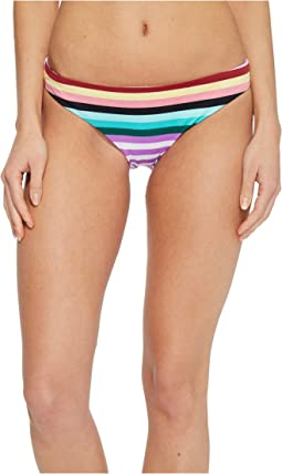 THE BIKINI LAB - Stripeout Cinched Back Hipster Bikini Bottom