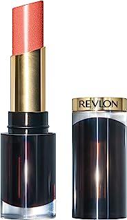 Revlon Super Lustrous Glass Shine Lipstick, Moisturizing Lipstick with Aloe and Rose Quartz in Coral, 019 Dewy Peach, 0.15 oz