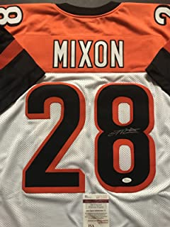 Autographed/Signed Joe Mixon Cincinnati White Football Jersey JSA COA