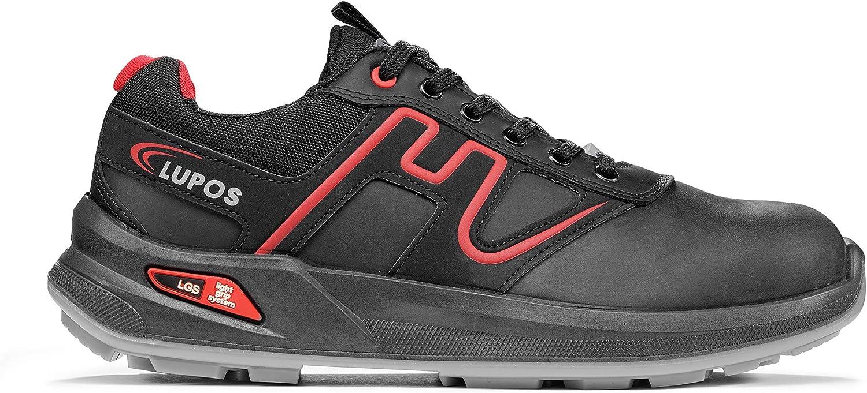 METALLIC S3 SRC ESD,  schwarz, rot, 40