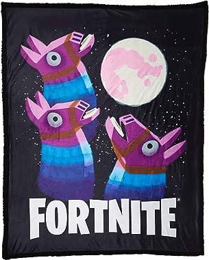 Spirit Halloween Fortnite Loot Llama Sherpa Fleece Blanket – Moon   Officially Licensed