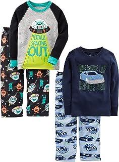 Simple Joys by Carter's Niños pijama de satén, Pack de 4