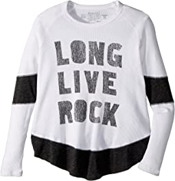 The Original Retro Brand Kids - Long Live Rock Thermal Tunic Pullover (Big Kids)