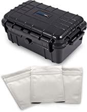 Cloudten Medium Smell Proof Case 8 inch Odor Resistant Storage Stash Box Container for Travel, Includes Three Airtight Bags