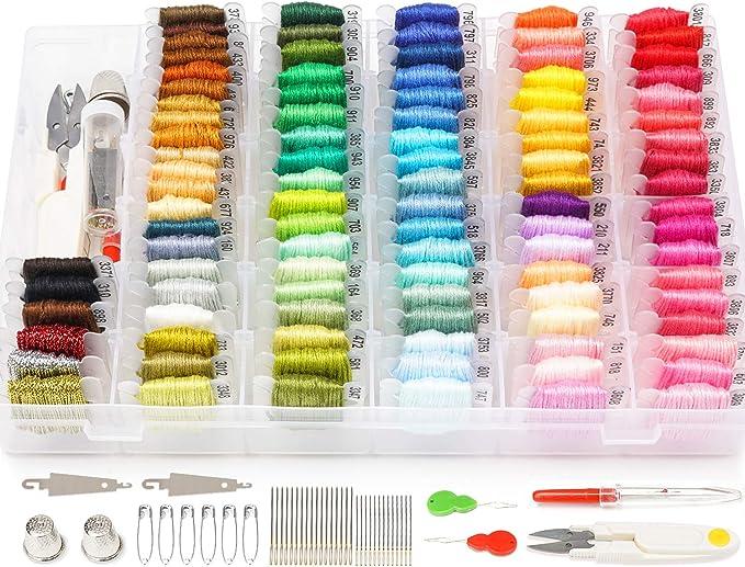 Embroidery Kit with Organizer Storage Box