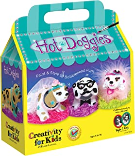 Creativity for Kids Haute Doggies Craft Kit – Makes 3 Bobble-Head Dogs – Teaches Beneficial Skills – For Ages 7 and Up