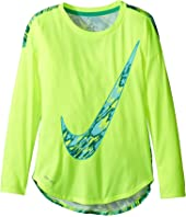 Nike Kids - Dri-FIT Modern Long Sleeve Graphic Top (Little Kids)