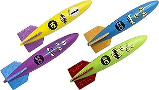 SwimWays Toypedo Bandits Pool Diving Toys - Sinking Torpedo Swim Toys - Pack of 4