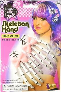 Skeleton Hands Bow Sugar Skull Vibe Punk Hair Clip Hairclip Costume Accessory