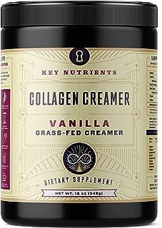 Vanilla Collagen Creamer, for Coffee: Grass Fed, Collagen Peptides, Keto Friendly, Protein Powder for Healthy Hair, Skin a...
