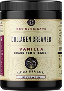 Vanilla Collagen Creamer, for Coffee: Grass Fed, Collagen Peptides, Keto Friendly, Protein Powder for Healthy Hair, Skin and Nails, 20 Servings