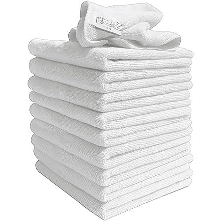 Mikrofaser Tücher Packung Mit 10 Tüchern Groß 40cm X 40cm Weiß Super Zum Reinigen Von Autos Booten Küchen Badezimmer Spiegel Usw Vertrags Qualität Wird Von Reinigungsprofis Verwendet