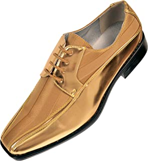 6293f13c8 Viotti Men s Formal Oxford Dress Shoe Striped Satin and Patent Tuxedo  Classic Lace Up with or