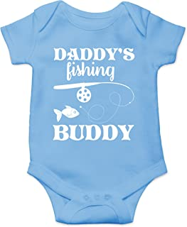 Daddy`s Fishing Buddy Cute Funny Toddler Fish Routine Humor Infant Baby Jumpsuit