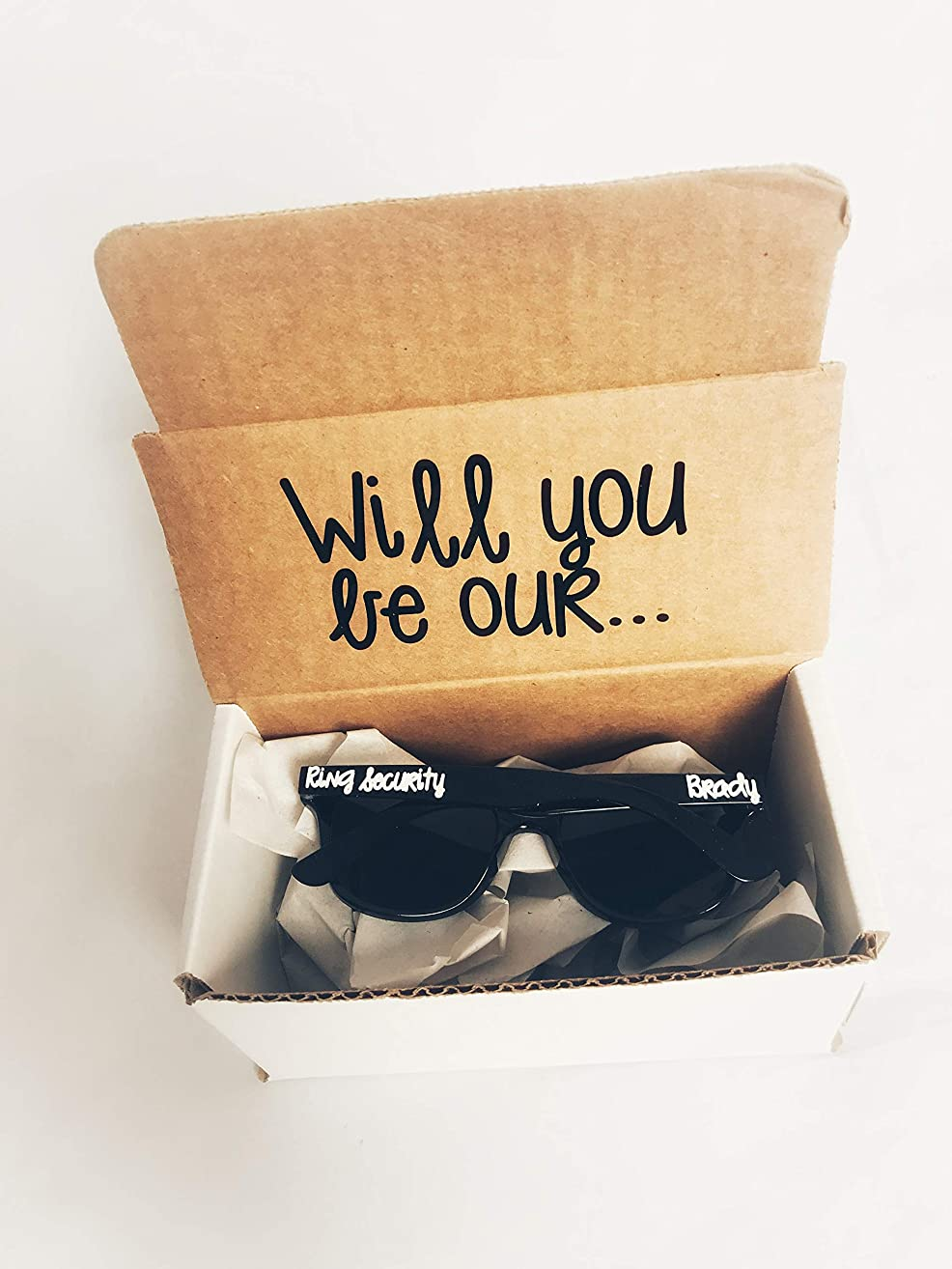 Ring Security Sunglasses | Boy Ring Bearer Proposal Gift | Wedding Party Glasses | Bridal Present