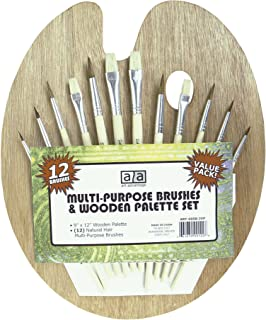 Art Advantage Wood Palette with 12 Brushes (6958-2VP)