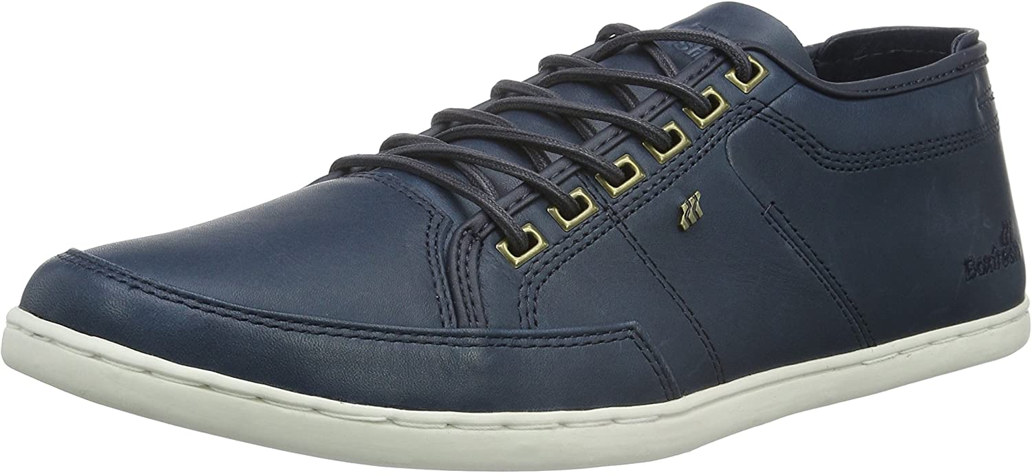 Box Fresh Mens Navy Sparko Leather Trainers
