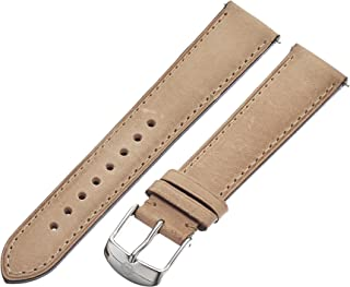 008f35fc0 MICHELE Women's 18mm Genuine Leather Watch Band Color: Tan (Model:  MS18AA270231)