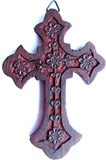 Iconsgr Handmade Wooden Holy Orthodox Religious Wood Carved Wall Cross Christ Crucifix Athos 64