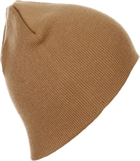 RufnTop Thick Plain Knit Beanie Slouchy Cuff Toboggan Daily Hat Soft Unisex Solid Skull Cap