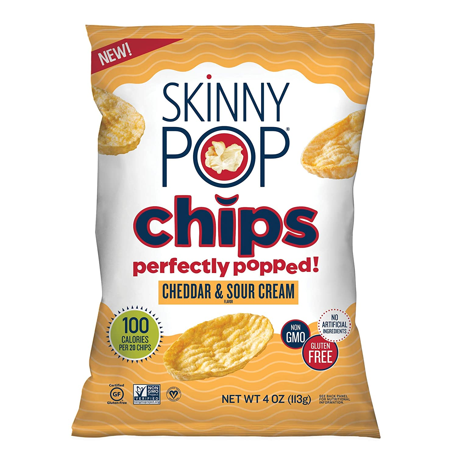 SkinnyPop Cheddar Japan's largest assortment Sour Cream Popped 12ct Very popular S 4oz Grocery Chips
