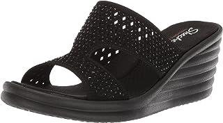 Skechers Women's Rumbler Wave-Ibiza Summer Slide Sandal
