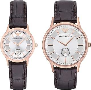 Dress Watch Gift Set Three-Hand Silver-Tone Stainless Steel Watch AR9041