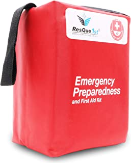 First Aid Complete Emergency Preparedness: Kit for Office, Home, School, Emergency, Survival, Camping, Hunting, Travel, Car or Automotive and Sports. 180 Pieces