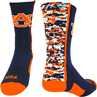 orange digital camo socks