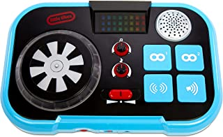 Little Tikes My Real Jam DJ Table, Toy DJ Mixing Table with Headphone Jack and Case, for Ages 3+ - Headphones not Included