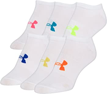 6-Pairs Under Armour Women's Essential No-Show Liner Socks