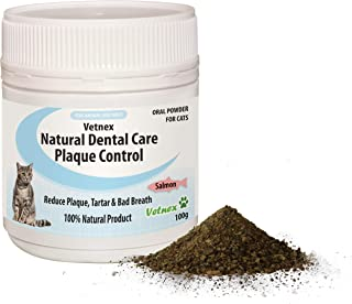 Vetnex Natural Dental Care Plaque Control Dental Powder (Salmon) for Cats 100g