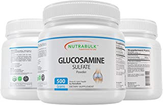 NutraBulk Glucosamine Sulfate Powder - Best Joint Pain Relief Support Supplement for Arthritis, Back, Knee, Hips & Inflammation. 500 Gram (1.1lbs)