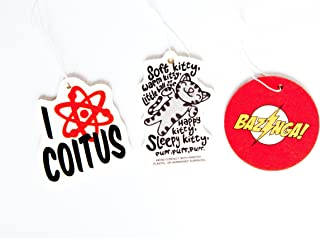 The Big Bang Theory Air Freshener Set of 3 - Bazinga, Soft Kitty, and I Love Coitus