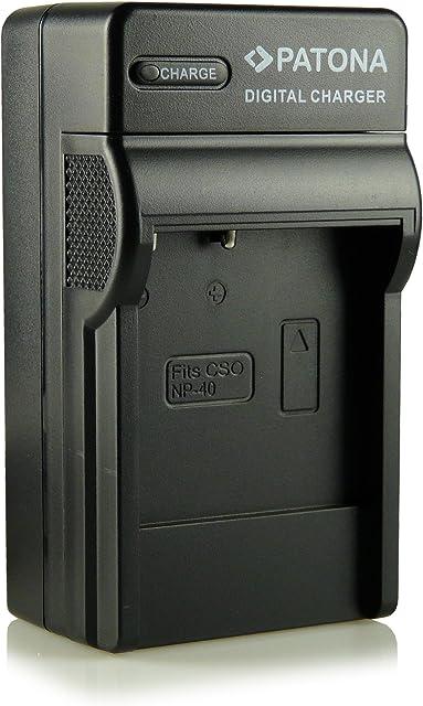 3in1 Cargador NP-40 para Casio Exilim High Speed EX-FC100 - Exilim Pro EX-P505 / EX-P600 / EX-P700 - Exilim Zoom EX-Z30 / EX-Z40 / EX-Z50 / EX-Z55 / EX-Z57 / EX-Z100 / EX-Z200 / EX-Z300 / EX-Z400 / EX-Z450 / EX-Z500 / EX-Z600 / EX-Z700 / EX-Z750 / EX-Z850 / EX-Z1000 / EX-Z1050 / EX-Z1080 / EX-Z1200 y mucho más…