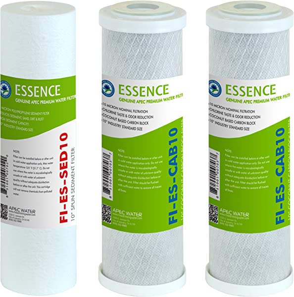 APEC Water Systems FILTER SET ES High Capacity Replacement Pre Filter Set For Essence Series Reverse Osmosis Water Filter System Stage 1 3