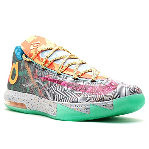 61d34b6be26 Nike Mens KD VI Premium What The KD Synthetic Basketball Shoes