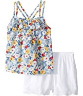 Ralph Lauren Baby Twill Floral Top Shorts Set (Infant)