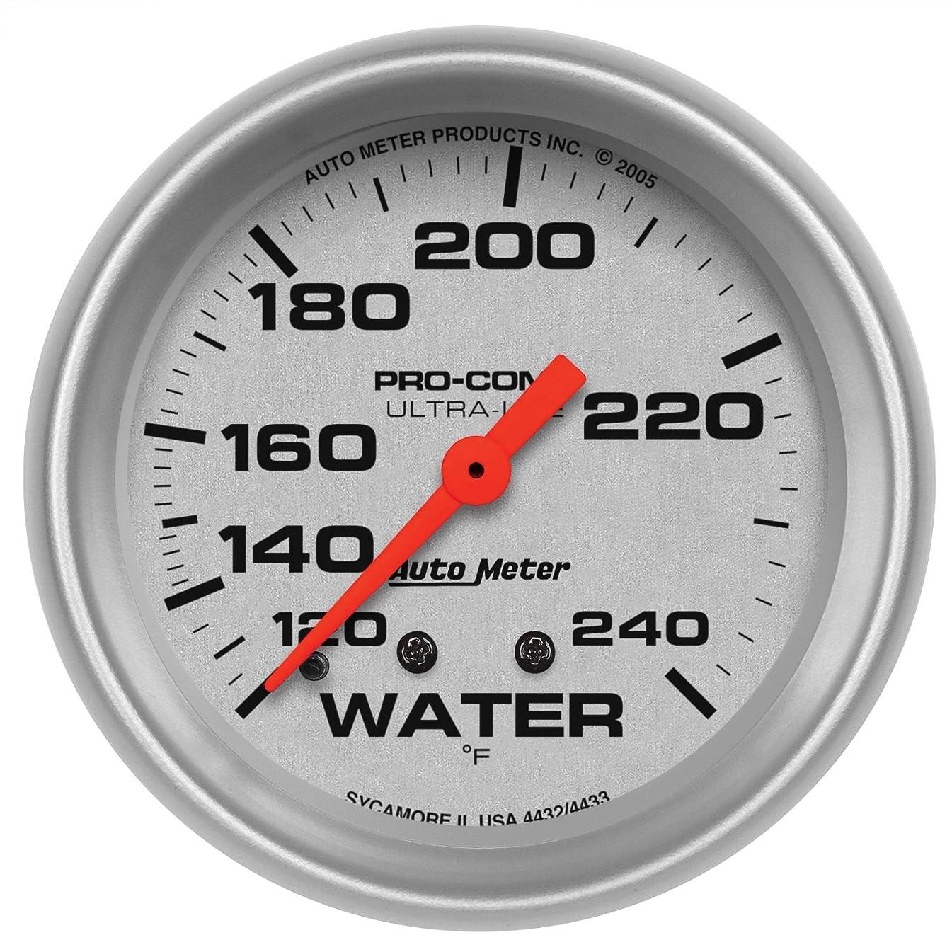 Auto Meter 4433 Ultra-Lite Mechanical Water Temperature Gauge
