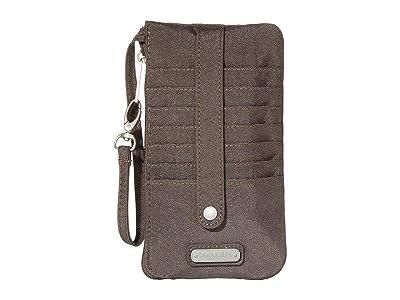 Baggallini Phone Wristlet (Sterling Shimmer) Handbags