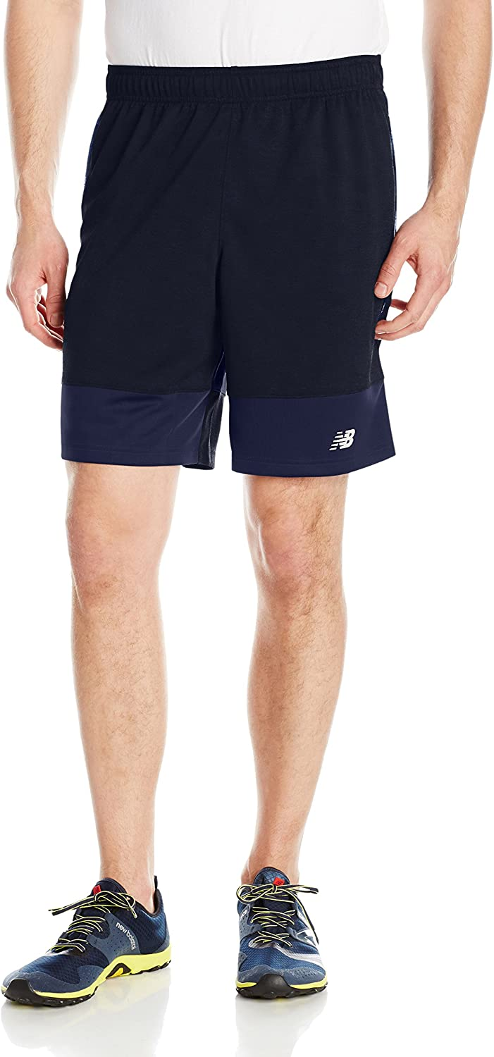 New Balance Men's 9  Farbeblock Heatherot Shorts, Pigment, Medium