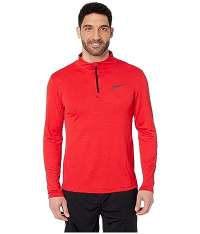 Nike Superset Top Long Sleeve 1/4 Zip (University Red/Black) Men