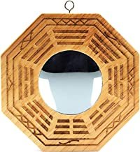 better us Feng Shui Wood Chinese Bagua Mirror 4 Inch (Convex)