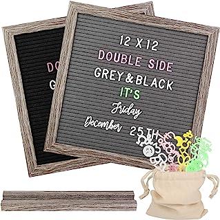 Fieltro Letter board de doble care, Tablero de anuncios de marco rústico, más de 1100 letras intercambiables de 4 colores ...