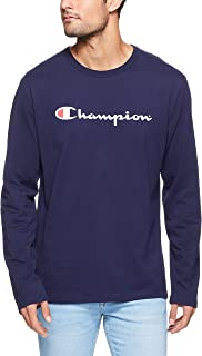 Champion Men's Script Long Sleeve Tee